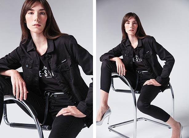 Look t-shirt e calça preta