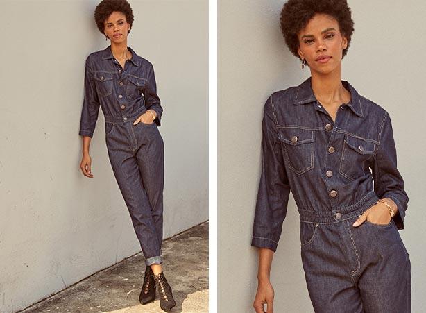 Macacão jeans