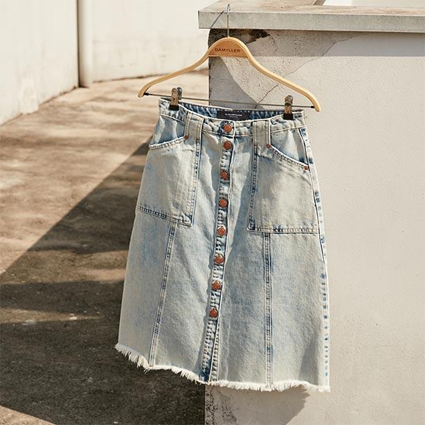 Saias jeans midi