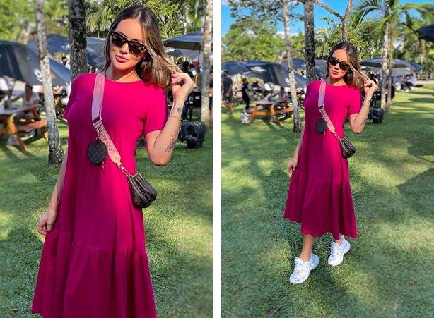 Vestido breezy em rosa