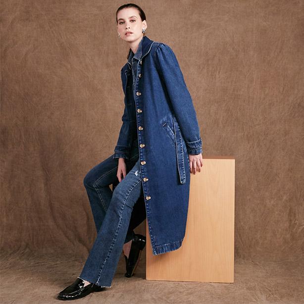 Mala com trench coat