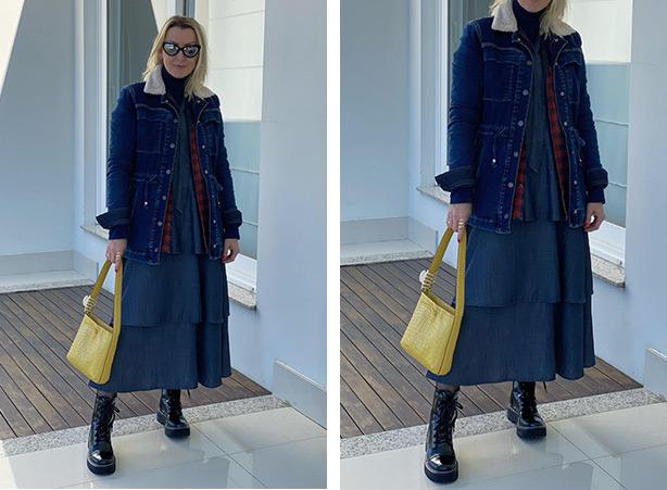 Look com vestido para o inverno