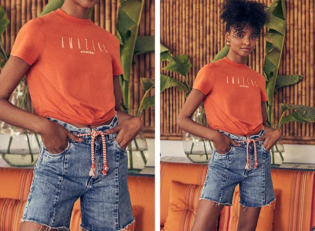 Cinto de corda com bermuda jeans