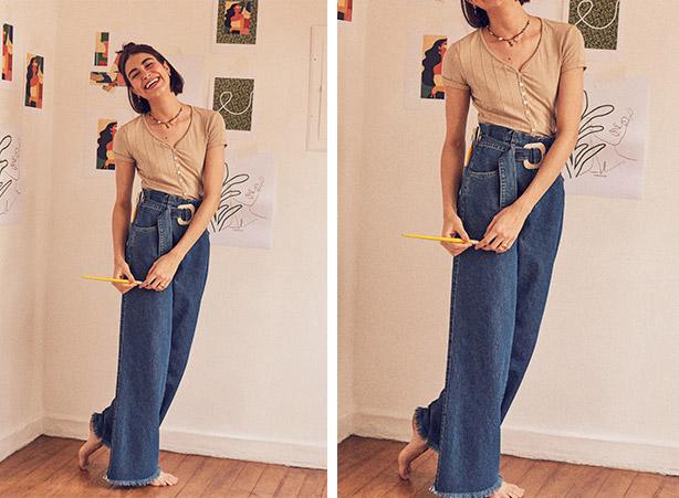Look com cinto jeans feminino