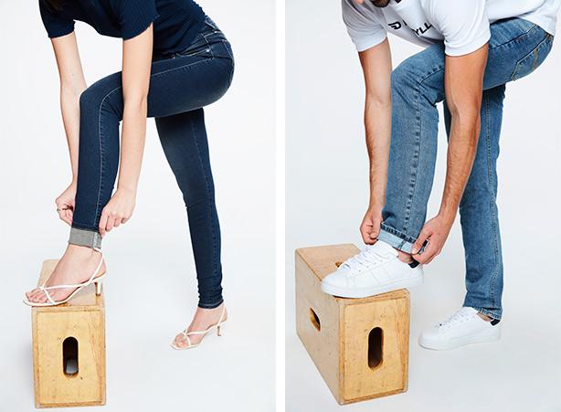 Como dobrar a barra da calça - Passo 02