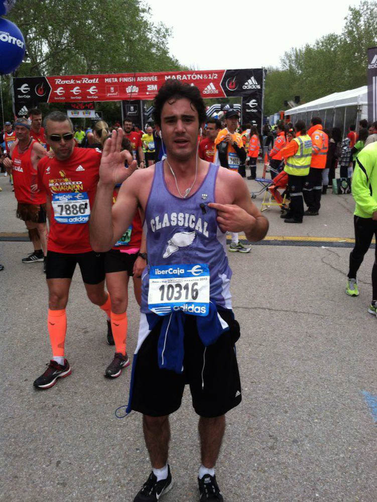 Ethan on marathon day