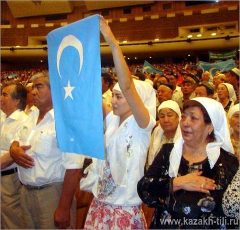 Уйгурские экстремисты в алматинском Дворце Республики, 2009 год.