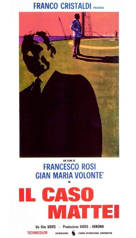 """A film poster for """"Il Caso Mattei""""."""