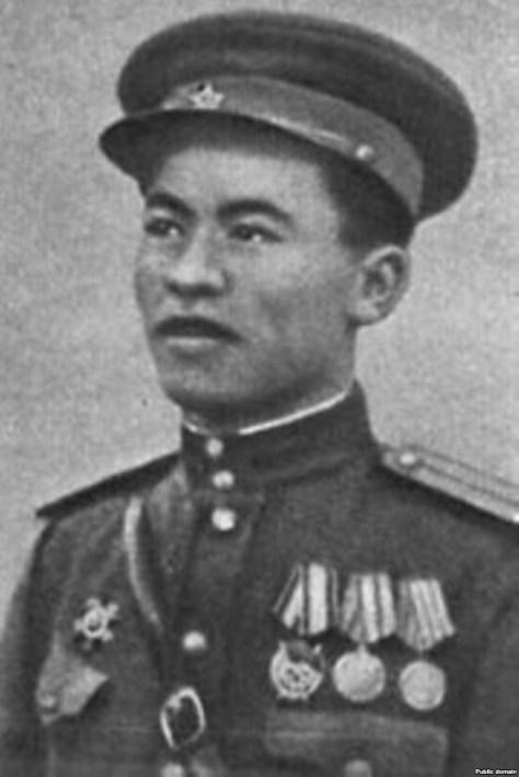 A Kazakh WWII hero Rakhymzhan Koshkarbayev.