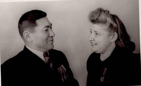 Mr. Ondassynov with his Russian wife, Valentina Vassilyevna.