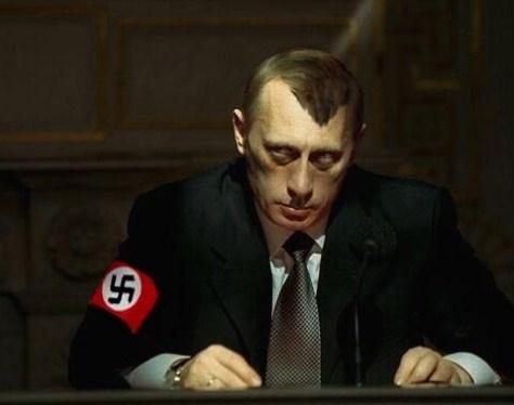 Путин в образе Гитлера.