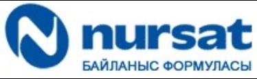 Telecommunications company Nursat's logo (Kazakhstan).