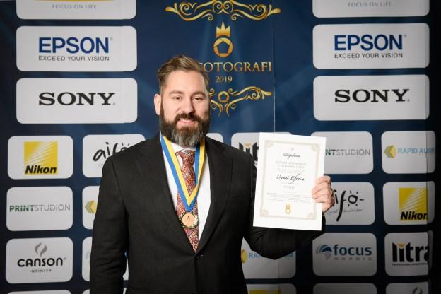 Jag med bronsmedal och diplom från SM 2019