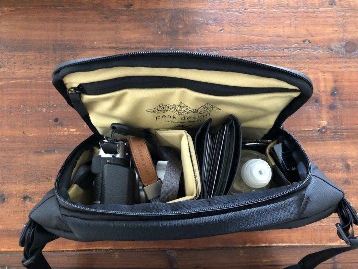 Peak design sling 5L idée rangement