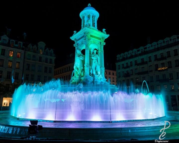 place des jacobins pour la fête des lumières de Lyon 2018