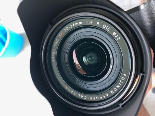 Objectif Fujifilm nettoyage personnel après passage SAV, objectif avec filtre de protection HOYA Pro1D mc protector