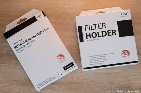 Unboxing filtres H&Y