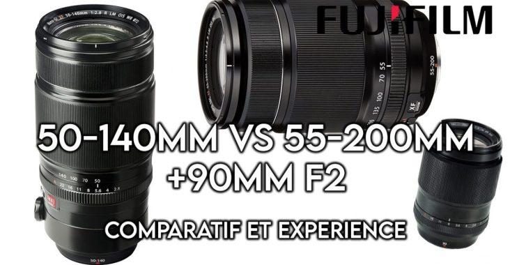 test et avis Fuji 50-140 vs 55-200 vs 90mm f2