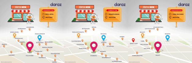 Daraz Hub Maps