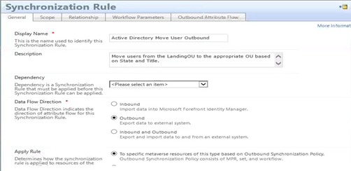 Dynamic Active Directory User Provisioning placement - Sync Rule