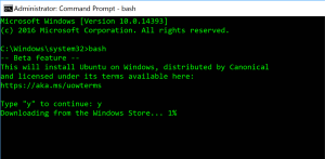 Windows Subsystem for Linux - Bash
