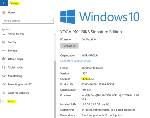 Windows Subsystem for Linux - Windows 10 Anniversary Update