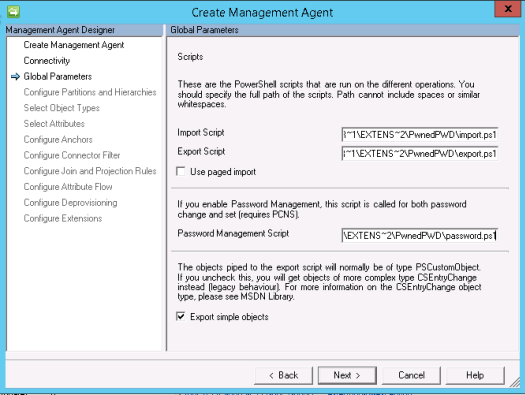 global parameters pwned passwords management agent