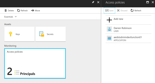 Azure Key Vault Access Policy