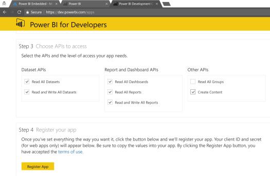 Create PBI App Permissions