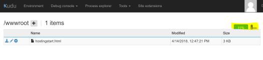 Azure Zip Push Deploy - Drop WebApp ZipFile Export via Kudu