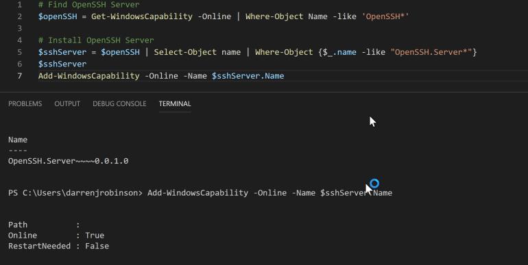 Install OpenSSH Server on Windows 10.PNG