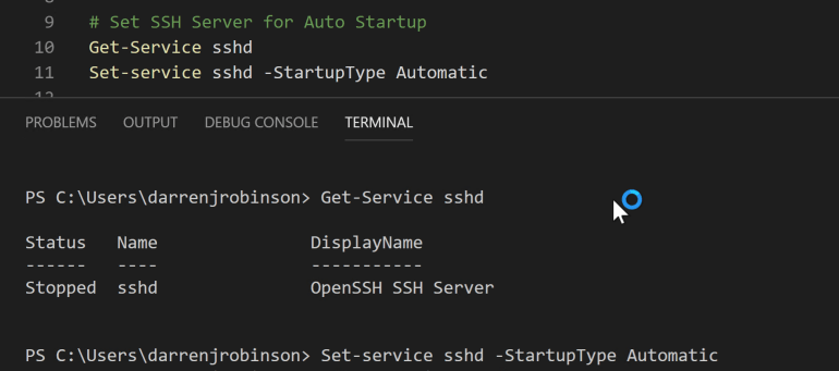 ssh Server Startup Automatic.PNG