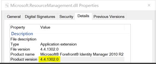 ResourceManagement DLL version from GAC.PNG