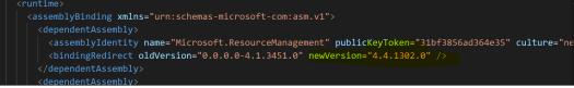 Version for Resource Management Web Service