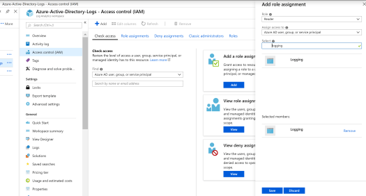 Link Log Analytics Workspace to Azure AD Application.PNG
