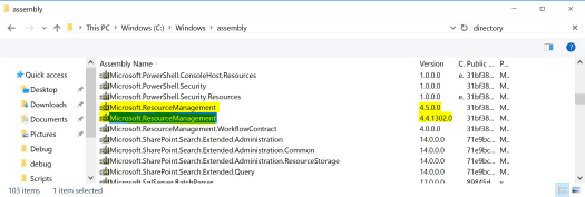 Microsoft.Resource.Management File Versions