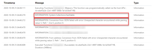 Conversion from JSON failed with error: Unexpected character encountered while parsing value