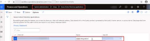 Dynamics 365 Finance & Operations Management Agent for Microsoft Identity Manager API Enablement
