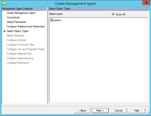 Dynamics 365 Finance & Operations Management Agent Object Type