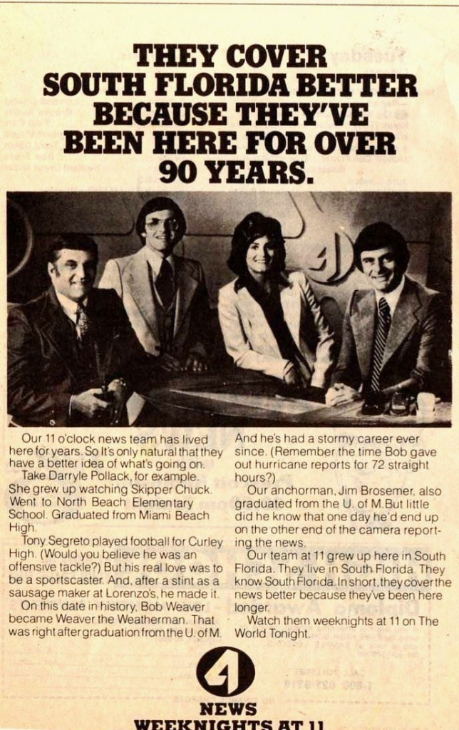 WTVJ:  Selling Its Experience (Ah, How Times Have Changed)