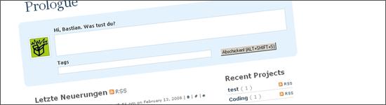 Prologue - Microblogging mit WordPress
