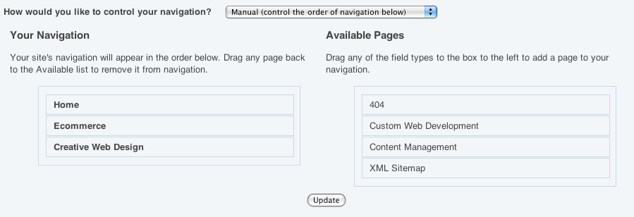 Manual navigation in datAvenger