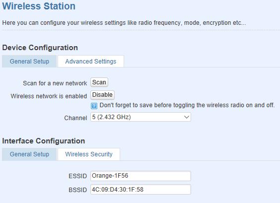 wireless client configuration - ¿ Cómo configurar mi router móvil para conectarse por WiFi a otro router ?