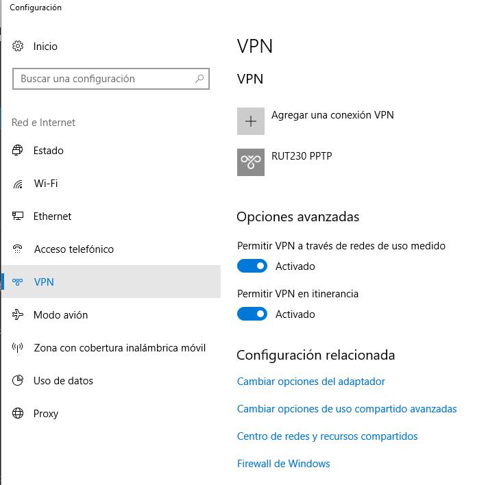 PPTP client1 - ¿ Cómo Configurar una VPN entre nuestro PC y un router Teltonika ?