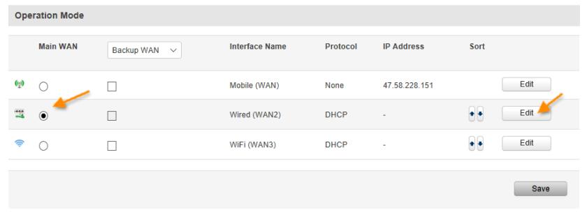 RJ45 as WAN - ¿ Cómo usar un router Teltonika como un terminador VPN ?