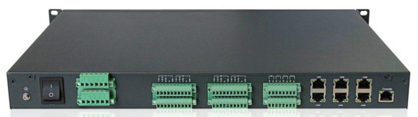 DG A6 rear - DG-A6 - Servidores de terminales de 8/16 puertos con redundancia Ethernet