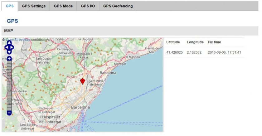 RUT955 GPS location 1024x531 - ¿ Cómo configurar el RUT955 como un servidor de tiempo NTP con sincronización por GPS ?