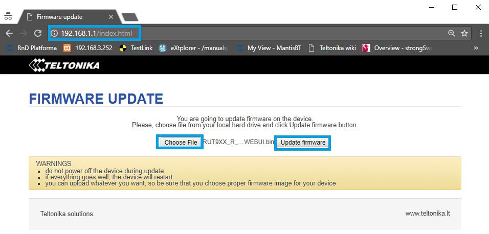 ¿ Cómo actualizar el firmware de tu router a través del Bootloader ?