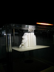 You can see Goku's leg on the left, and his missing foot just below that. I don't know how successful this print will be.