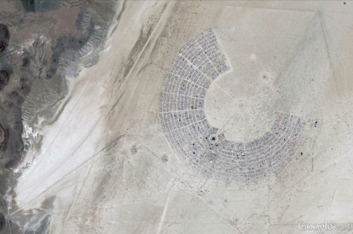 Google Earth aerial Burning Man 2015